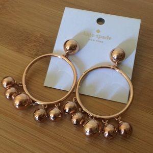 Kate Spade Rose Gold Hoop Earrings